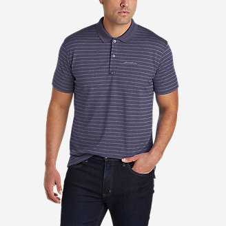 Men's Resolution Pro Polo Shirt - Stripe in Purple