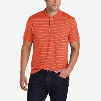 Men's Resolution Pro Polo Shirt - Stripe in Red
