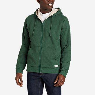 Men's Cascade Fleece Full-Zip Sherpa-Lined Hoodie in Green