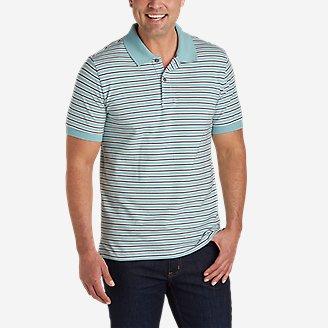Men's Field Pro Short-Sleeve Polo Shirt - Stripe in Blue