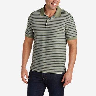 Men's Field Pro Short-Sleeve Polo Shirt - Stripe in Green