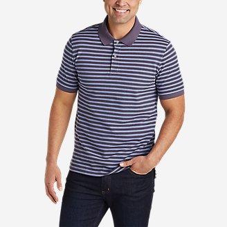 Men's Field Pro Short-Sleeve Polo Shirt - Stripe in Purple