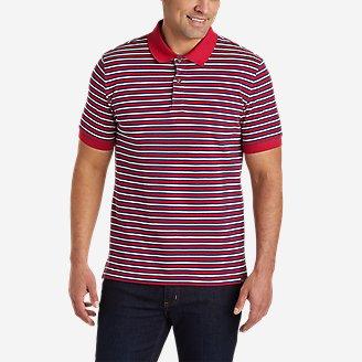 Men's Field Pro Short-Sleeve Polo Shirt - Stripe in Red