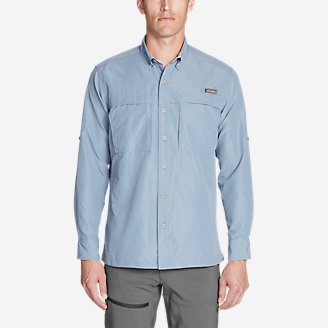 Men's Ripstop Guide Long-Sleeve Shirt in Blue