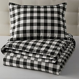 Mountain Plaid Comforter/Sham Set - Black in Black