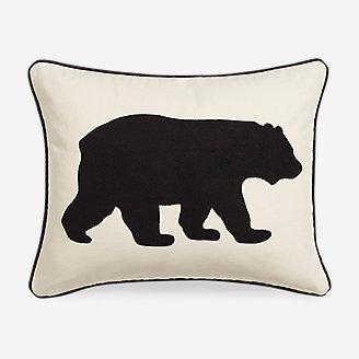 Bear Black Breakfast Pillow in Black