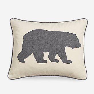 Bear Charcoal Breakfast Pillow in Gray