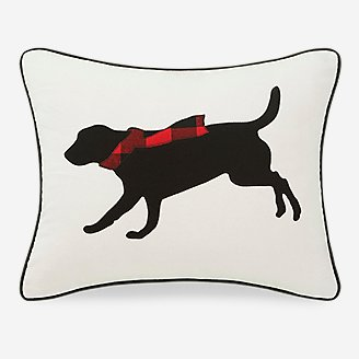 Winter Lab Red Breakfast Pillow in Red