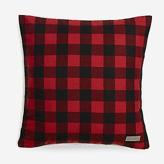 Cabin Red Plaid Pillow in Red
