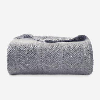 Herringbone Cotton Blanket - Chrome in Gray
