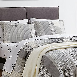 Fairview Quilt/Sham Set - Gray in Gray