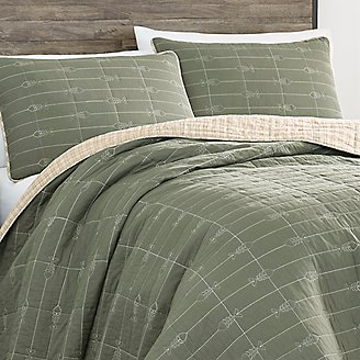 Troutdale Quilt/Sham Set in Green