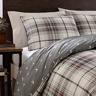 Alder Duvet/Sham Set - Gray Plaid in Gray