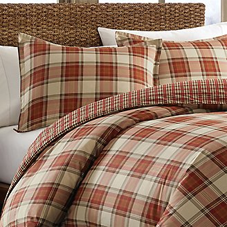 Edgewood Duvet/Sham Set - Plaid in Red