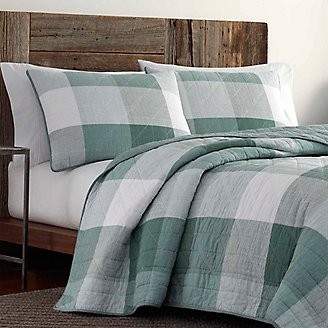 Boulder River Quilt/Sham Set in Green