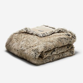 Lodge Faux Fur Throw in Brown