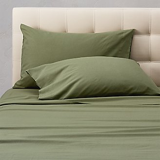 Flannel Pillowcase Set - Solid in Green