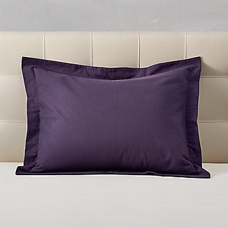 Flannel Pillow Sham - Solid in Purple