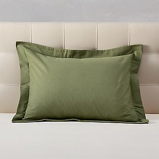 Flannel Pillow Sham - Solid in Green