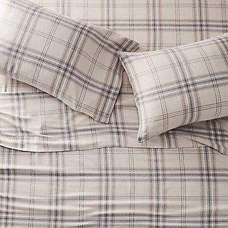 Portuguese Flannel Sheet Set - Plaids & Heathers in Beige