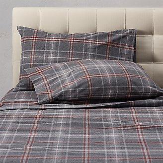 Flannel Pillowcase Set - Pattern in Gray
