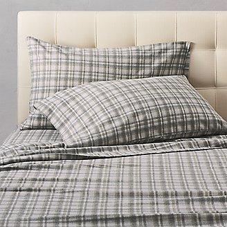 Flannel Pillowcase Set - Pattern in Green