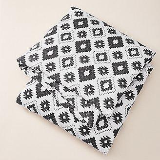 Flannel Duvet Cover - Pattern in Black