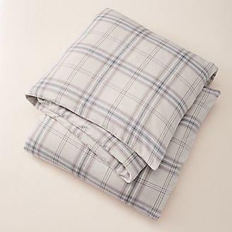Flannel Duvet Cover - Pattern in Beige