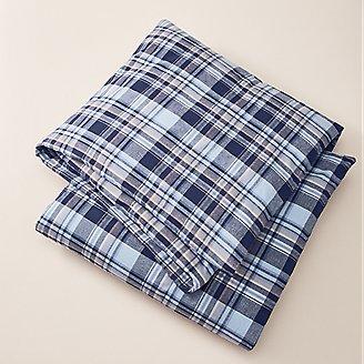 Flannel Duvet Cover - Pattern in Blue