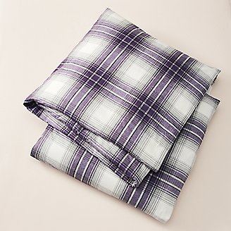 Flannel Duvet Cover - Pattern in Purple