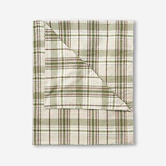 Flannel Duvet Cover - Pattern in White