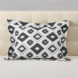 Flannel Pillow Sham - Pattern in Black