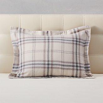 Flannel Pillow Sham - Pattern in Beige
