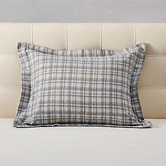Flannel Pillow Sham - Pattern in Green