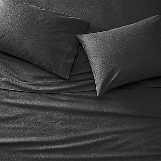 Flannel Sheet Set - Heather in Black