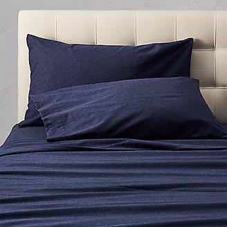 Flannel Pillowcase Set - Heather in Blue
