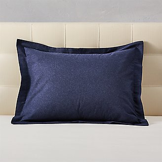 Flannel Pillow Sham - Heather in Blue