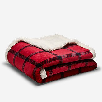 Cabin Fleece Blanket in Red