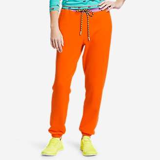 Women's Eddie Bauer x karla Knit Sweatpants in Orange