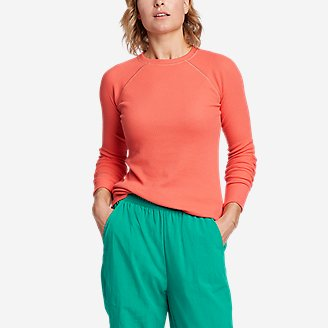 Women's Eddie Bauer x karla Thermal Crewneck in Orange