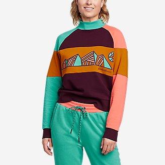Women's Eddie Bauer x karla Mock-Neck Sweatshirt in Purple
