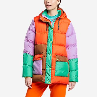 Women's Eddie Bauer x karla Hooded Puffer Jacket in Orange