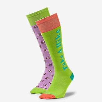 Women's Eddie Bauer x karla Knee-High Socks - 2-Pack in Purple