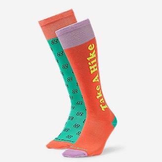 Women's Eddie Bauer x karla Knee-High Socks - 2-Pack in Orange