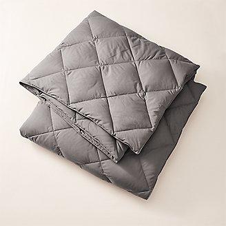 Cascade Down Comforter - Colored in Gray