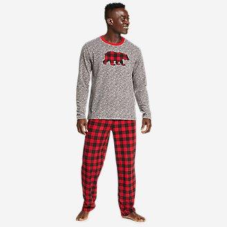 Men's Quest Fleece Sleep Set - Buffalo Plaid in Red