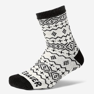 Women's Fireside Lounge Socks in White