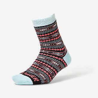 Women's Fireside Lounge Socks in Red