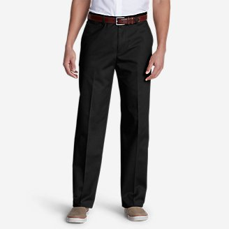 Men's Dress Performance Flat-Front Khakis - Classic in Black