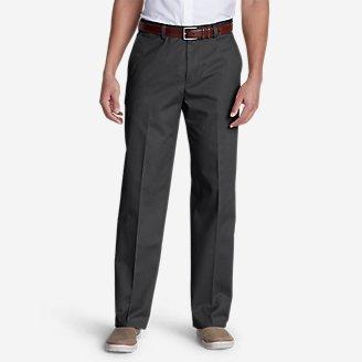 Men's Dress Performance Flat-Front Khakis - Classic in Gray